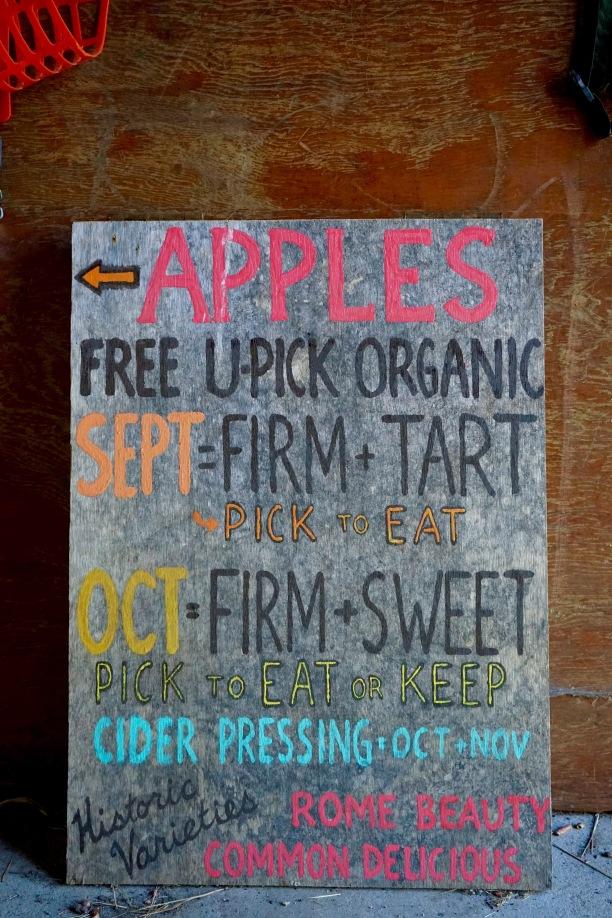 Stehekin Apples Sign