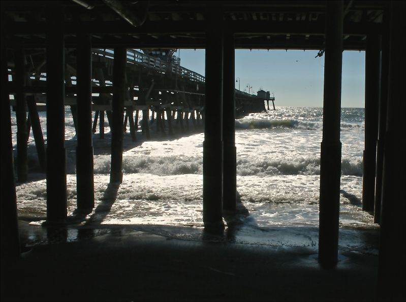 View under the pier
