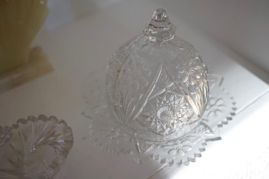 Cut crystal cloche