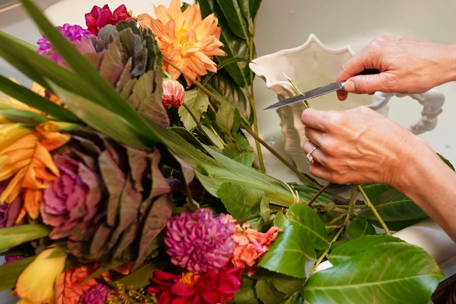 How to cut a flower stem