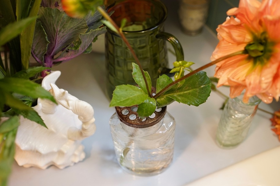 Creating a flower arrangement