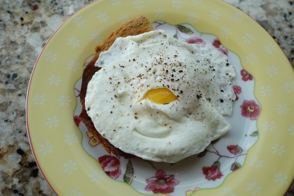 Fried Egg on top of Ezekiel Bread
