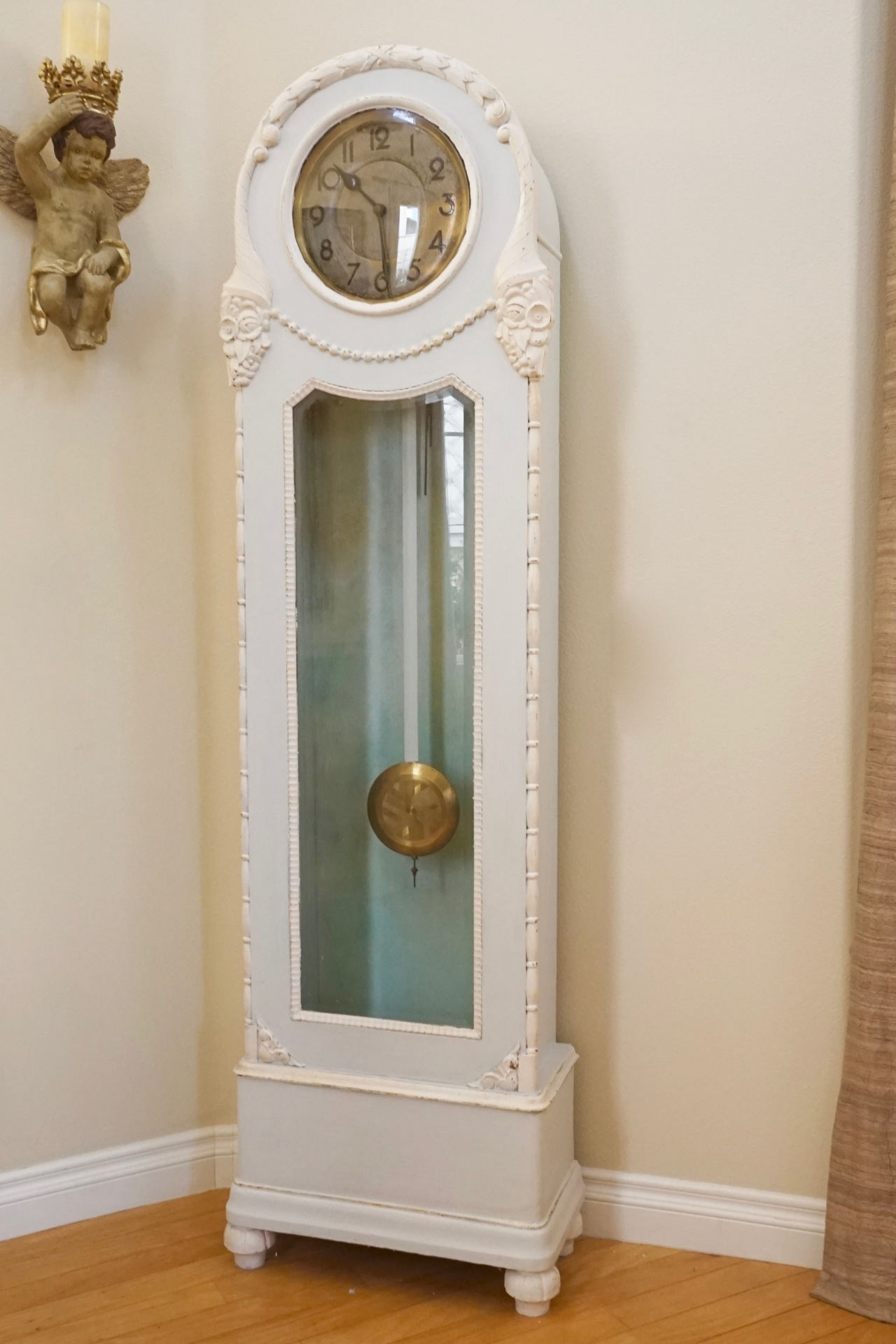 HeyGirlfriend.Net ~ Painted Antique Grandfather Clock