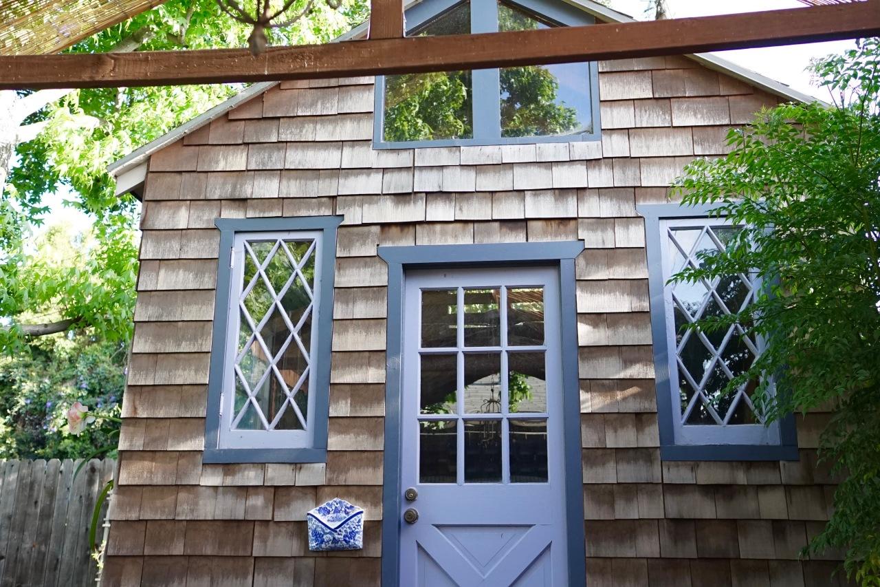 shingled garden house